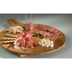 Suport Servire Pizza si Aperitiv din Bambus, diametru 35 cm